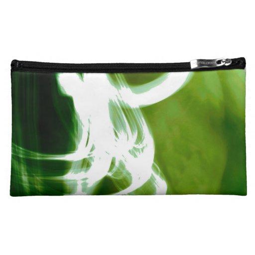 Fashionable Artistic Green Cosmetic Bag