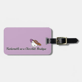 Fashionable as a Chocolate Boutique Luggage Tag
