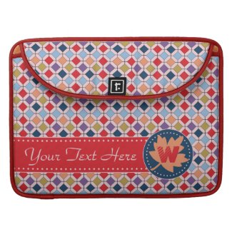Fashionable Autumn Fall Geometric Pattern Monogram MacBook Pro Sleeve