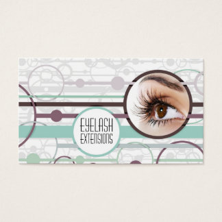 Fashionable Bubbles Eyelash Extensions Card