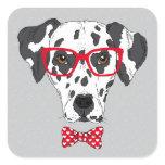Fashionable Dalmatian Square Sticker