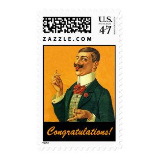 Fashionable Dapper Snapper Congratulations Stamps