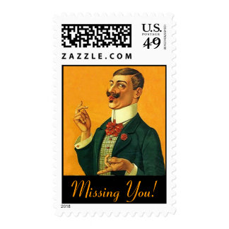 """Fashionable """"Dapper Snapper""""  Missing You STAMPS! Stamp"""