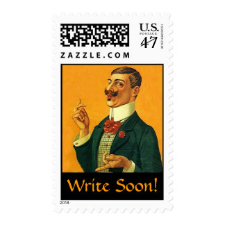 "Fashionable ""Dapper Snapper""  Write Soon STAMPS! Postage"