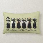 'Fashionable Felines' Pillow