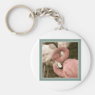 Fashionable Flamingo Keychain