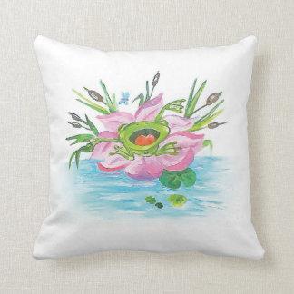 Fashionable Froggie Throw Pillow
