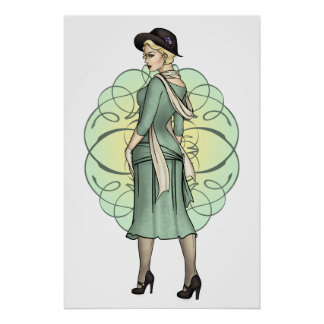 Fashionable Gangster - 1920s Pinup Print