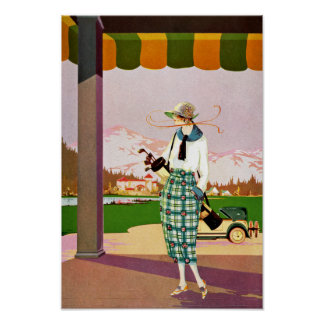 Fashionable Golf Attire Poster