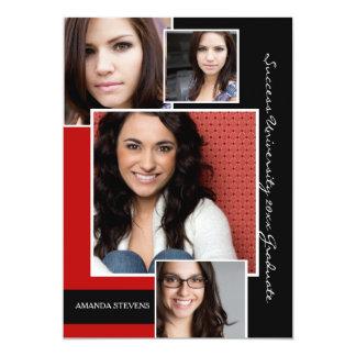Fashionable Graduate Four Photo Announcement