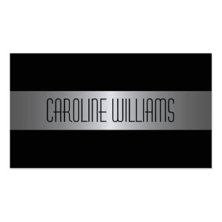 Fashionable gray gradient black personal profile business card templates