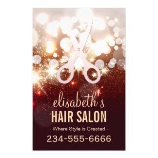 Fashionable Hair Stylist - Gold Glitter Sparkle Flyer