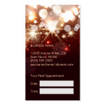 Fashionable Hair Stylist Gold Sparkle Appointment Business Card Template