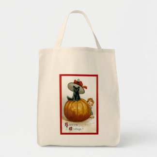 Fashionable Halloween Kitty Tote Bag
