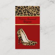 Fashionable Jaguar Print Business Card