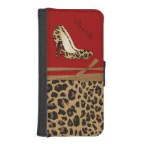 Fashionable Jaguar Print iPhone Wallet Case