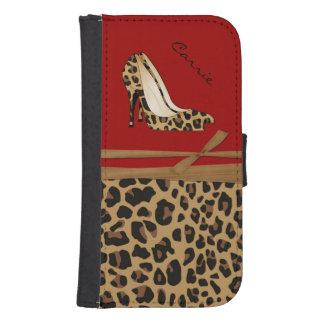 Fashionable Jaguar Print Samsung S4 Wallet Case
