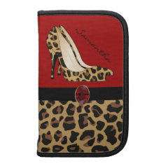 Fashionable Jaguar Print Smartphone Folio Folio Planners