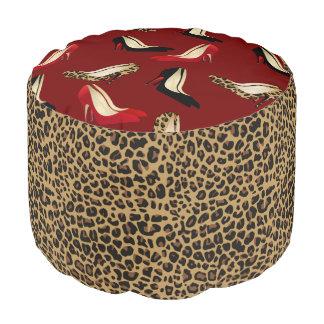 Fashionable Jaguar Stilletto Heals Pouf Seat