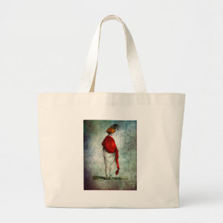 FASHIONABLE LADIES RED SHAWL 1799.jpg Large Tote Bag