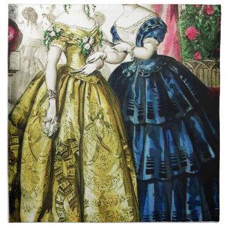 FASHIONABLE LADIES VINTAGE 28 CLOTH NAPKIN