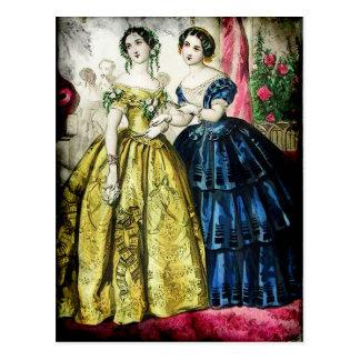 FASHIONABLE LADIES VINTAGE 28 POSTCARD