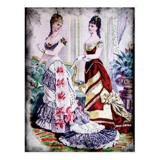 FASHIONABLE LADIES VINTAGE 41 POSTCARD