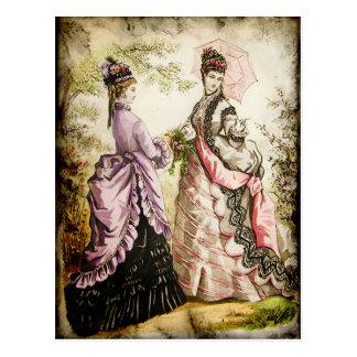 FASHIONABLE LADIES VINTAGE 44 POSTCARD