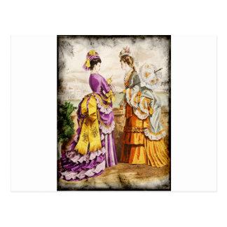 FASHIONABLE LADIES VINTAGE 46 POSTCARD