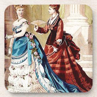 FASHIONABLE LADIES VINTAGE 49 BEVERAGE COASTER
