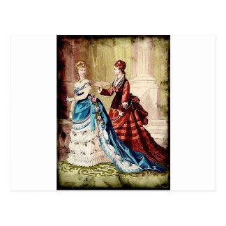 FASHIONABLE LADIES VINTAGE 49 POSTCARD
