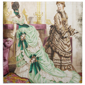 FASHIONABLE LADIES VINTAGE 50 CLOTH NAPKIN
