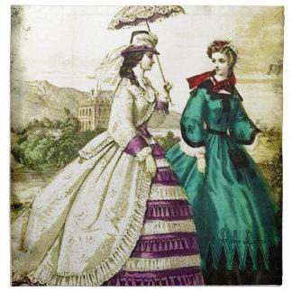 FASHIONABLE LADIES VINTAGE 55 CLOTH NAPKIN