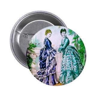 FASHIONABLE LADIES VINTAGE 78 PINBACK BUTTON
