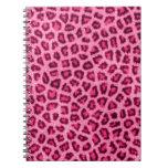 Fashionable leopard skin fluffy fur effect journals