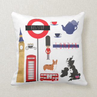 Fashionable London Iconic Throw Pillow