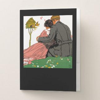 Fashionable Lovers Pocket Folder