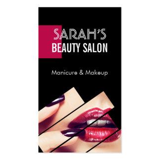 Fashionable Makeup Lips Beauty Salon Boutique Business Card