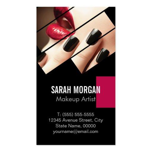 Fashionable Makeup Lips Beauty Salon Boutique Business Card Template (back side)