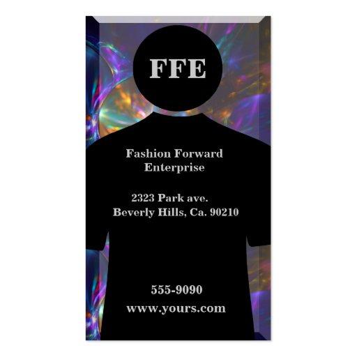 Fashionable Metallic Swirls Shirt Business Cards