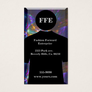 Fashionable Metallic Swirls Shirt Business Card