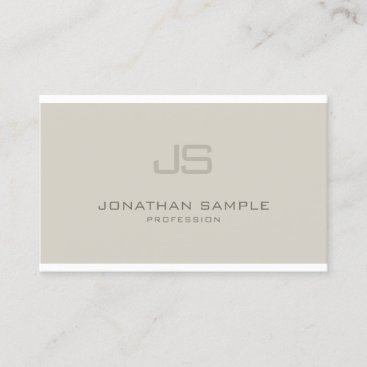 Fashionable Monogram Modern Professional Design Business Card