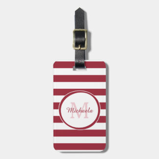 Fashionable Name Chili Pepper Red Candy Stripes Luggage Tag