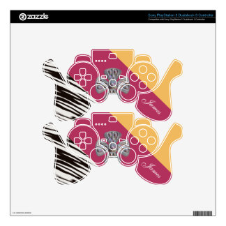Fashionable Personalized Monogram. Your Text /Name Skins For PS3 Controllers