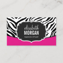Fashionable Pink Black Zebra Print Appointment