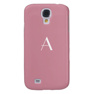 Fashionable Puce Color Monogram Samsung Galaxy S4 Covers