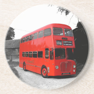 Fashionable Red London Bus Routemaster Britain Sandstone Coaster