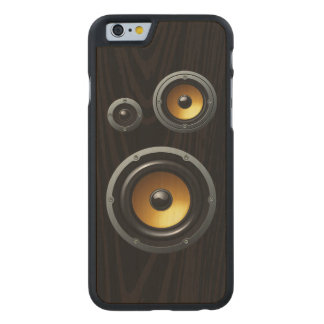 Fashionable Retro Wood Grain Speaker Trio Carved Maple iPhone 6 Case