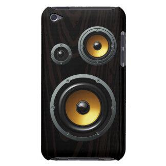 Fashionable Retro Wood Grain Speaker Trio Barely There iPod Case