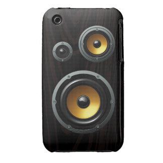Fashionable Retro Wood Grain Speaker Trio iPhone 3 Case-Mate Cases